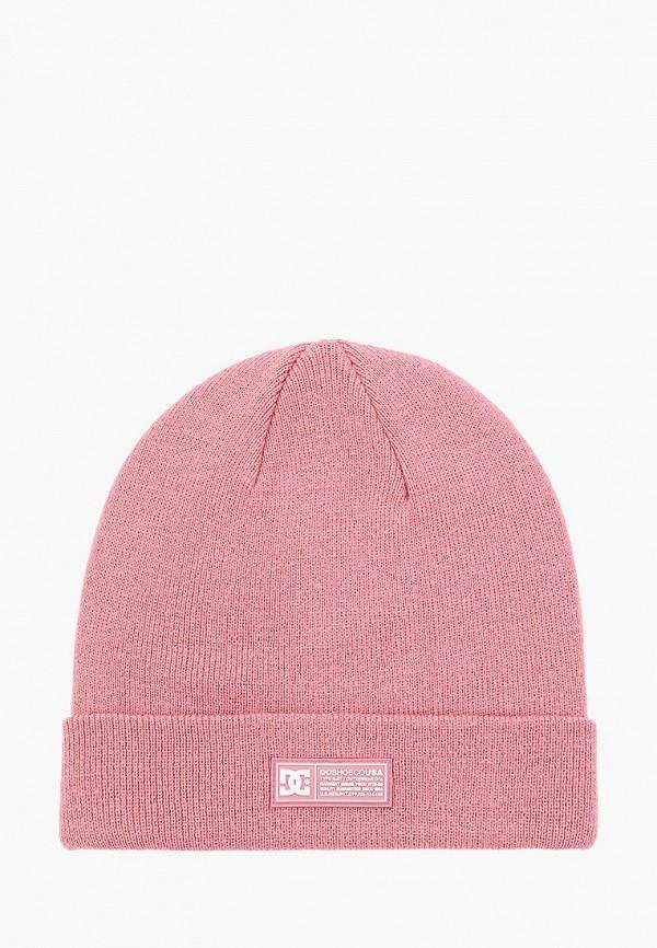 женская шапка dc shoes, розовая