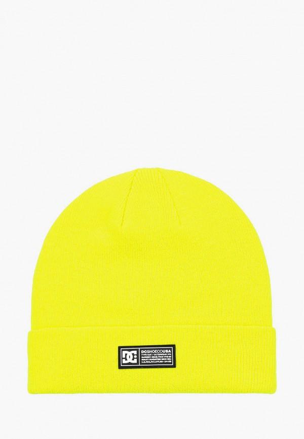 женская шапка dc shoes, желтая