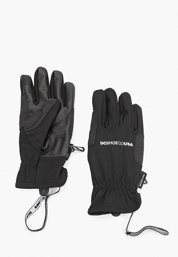 мужские текстильные перчатки dc shoes, черные