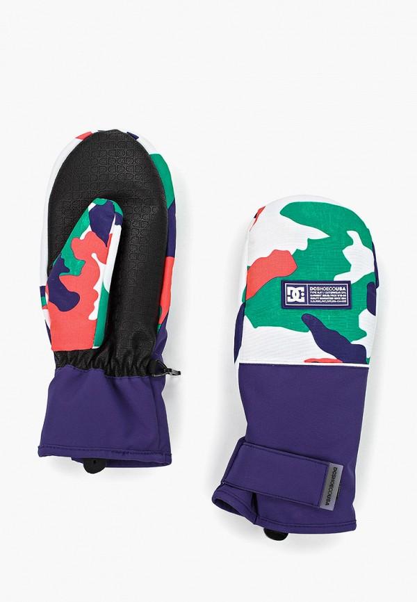 женские варежки dc shoes, разноцветные