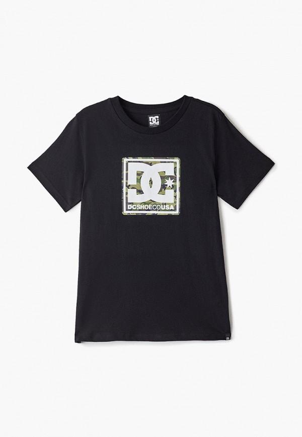 футболка dc shoes для мальчика, черная