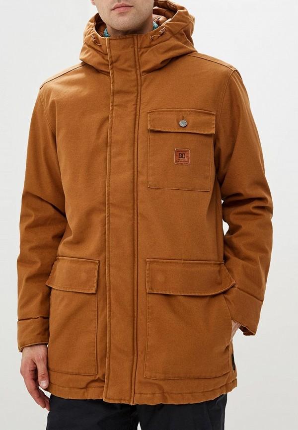 мужская куртка dc shoes, коричневая