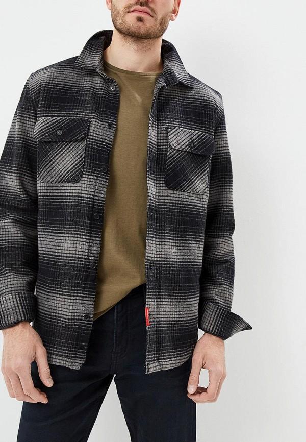 мужская рубашка с длинным рукавом dc shoes, серая