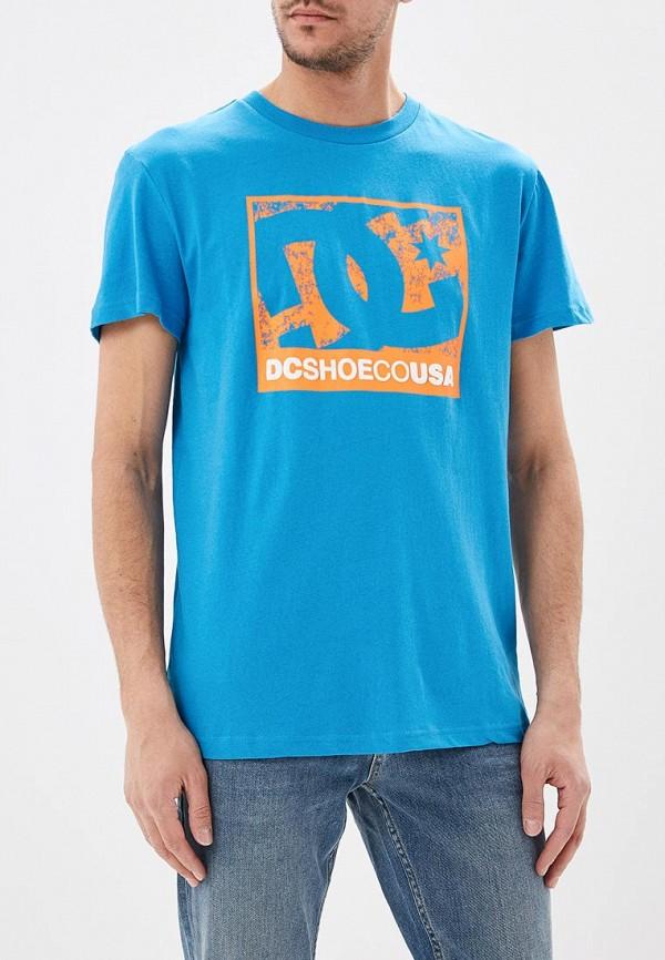 мужская спортивные футболка dc shoes, голубая