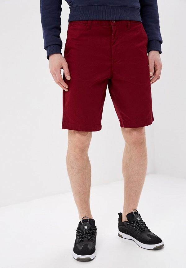 мужские шорты dc shoes, бордовые