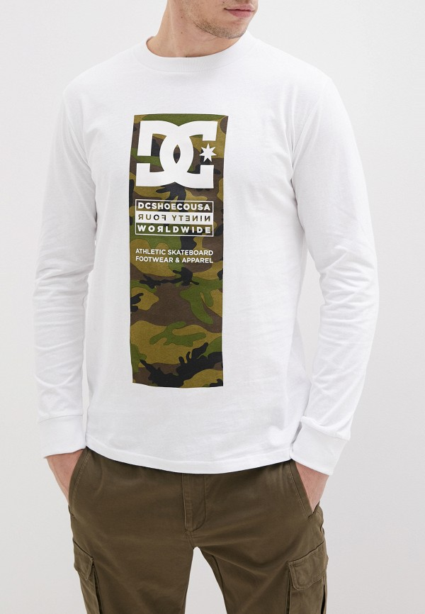 мужской лонгслив dc shoes, белый