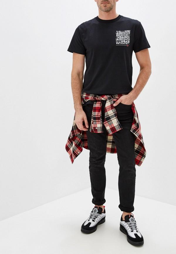 Фото 2 - мужскую футболку DC Shoes черного цвета