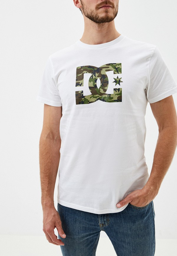 мужская спортивные футболка dc shoes, белая