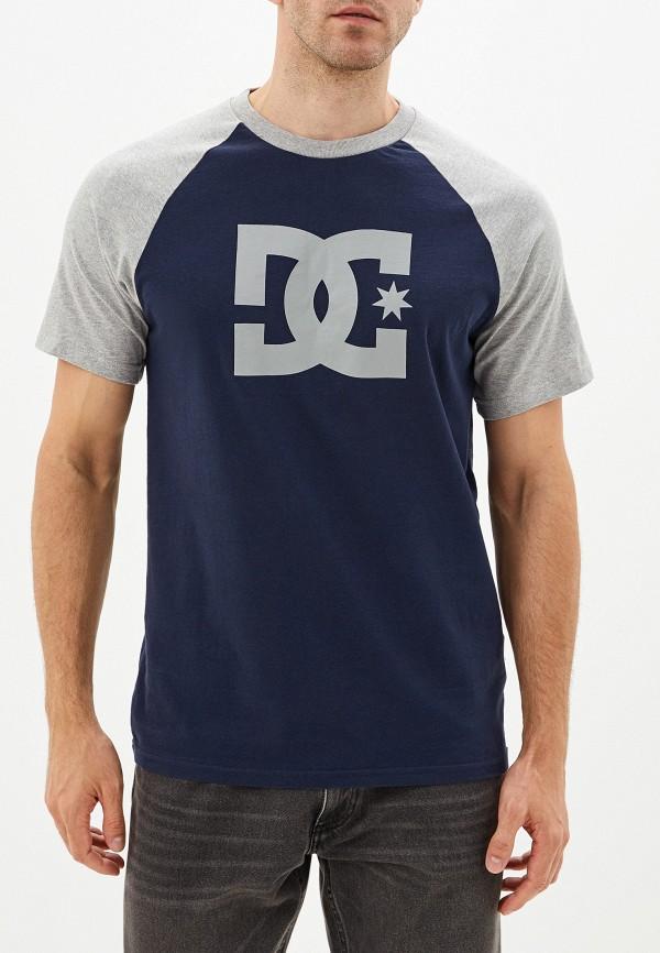 Фото - мужскую футболку DC Shoes синего цвета