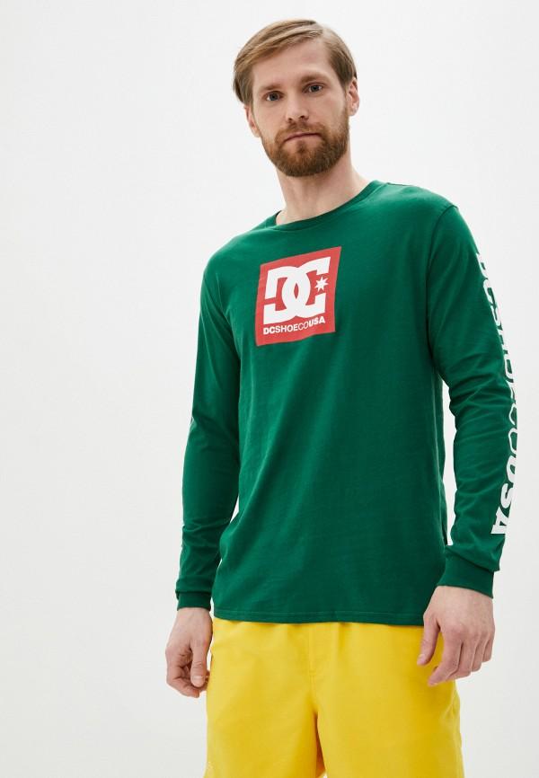 мужской лонгслив dc shoes, зеленый