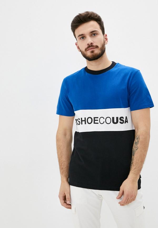 мужская футболка с коротким рукавом dc shoes, разноцветная