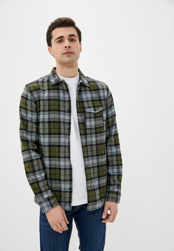 мужская рубашка dc shoes, зеленая