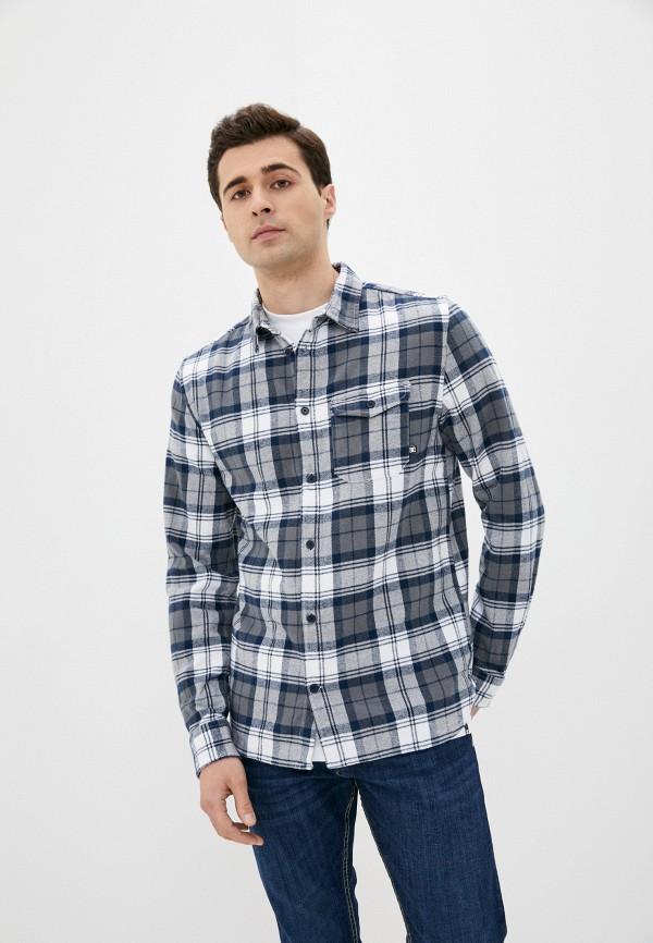 мужская рубашка с длинным рукавом dc shoes, синяя