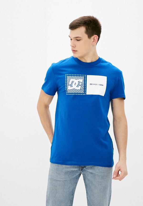 мужская футболка с коротким рукавом dc shoes, синяя