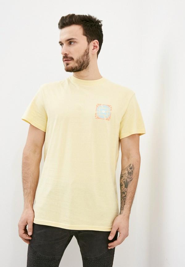мужская футболка с коротким рукавом dc shoes, желтая