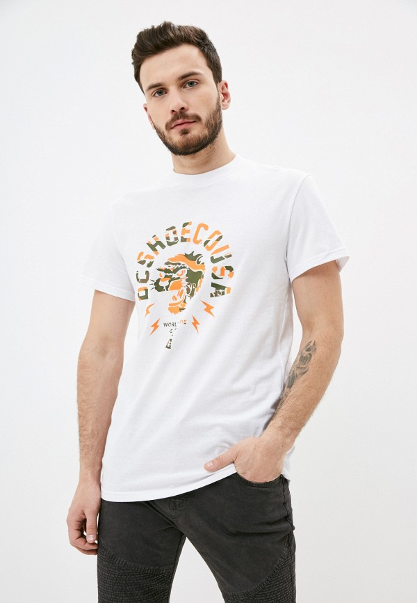 мужская футболка с коротким рукавом dc shoes, белая