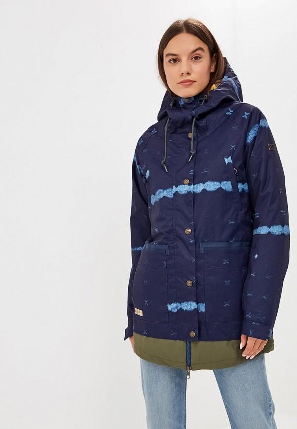 женская куртка dc shoes, синяя