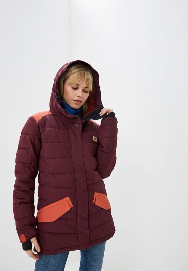 женская куртка dc shoes, бордовая