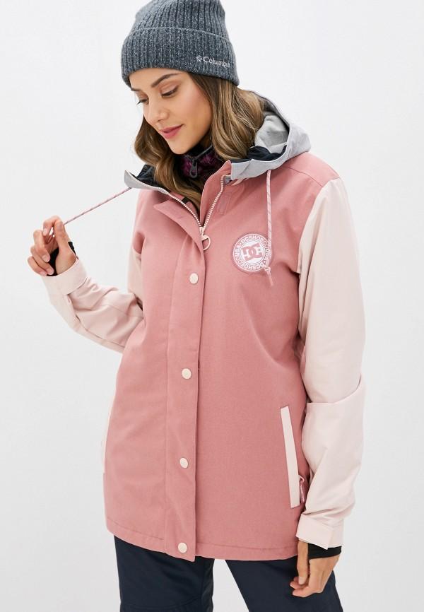 женская куртка dc shoes, розовая