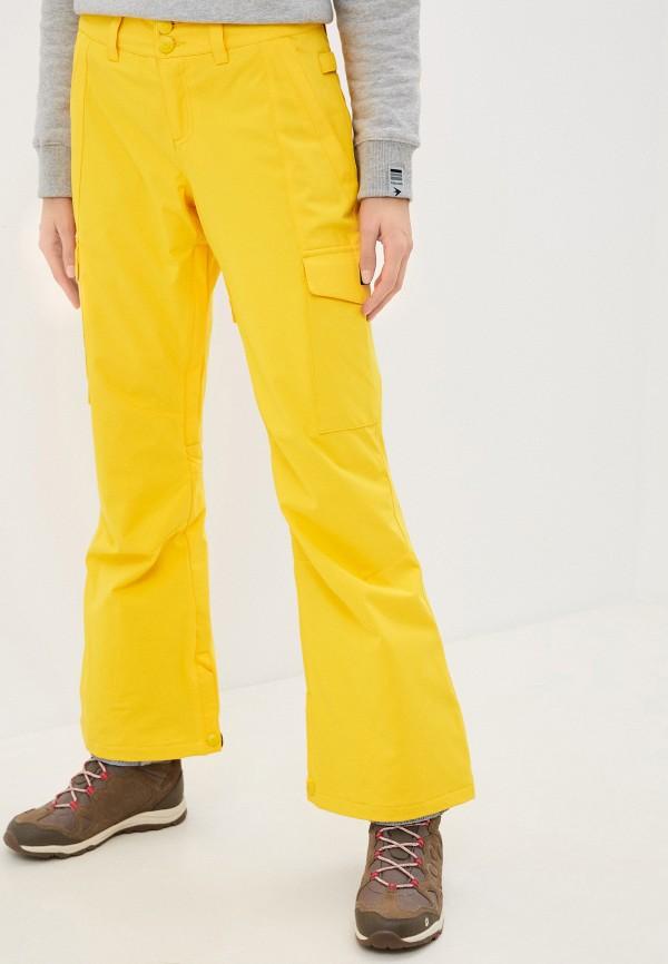 женские брюки dc shoes, желтые