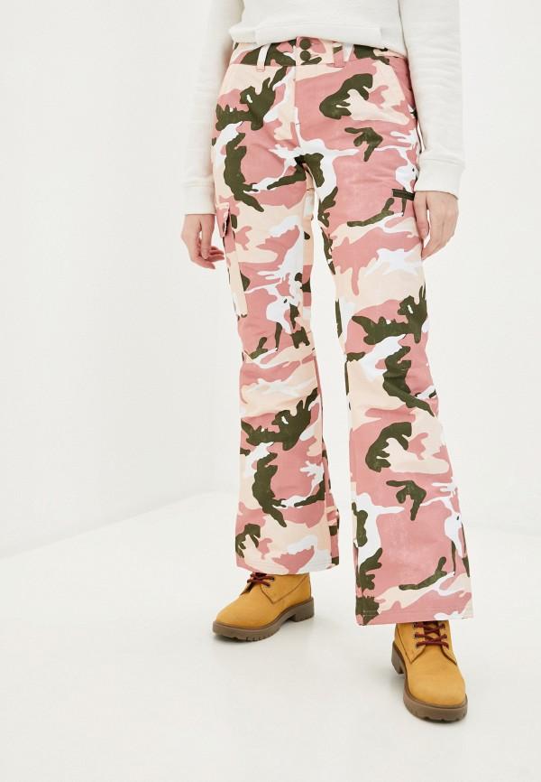 женские брюки dc shoes, розовые