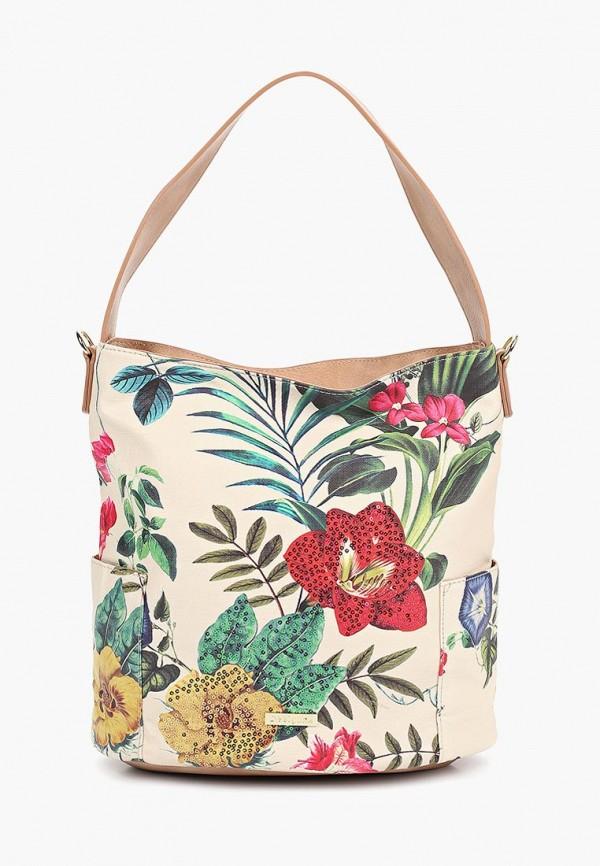 женская сумка desigual, бежевая