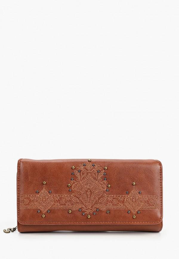 женский кошелёк desigual, коричневый