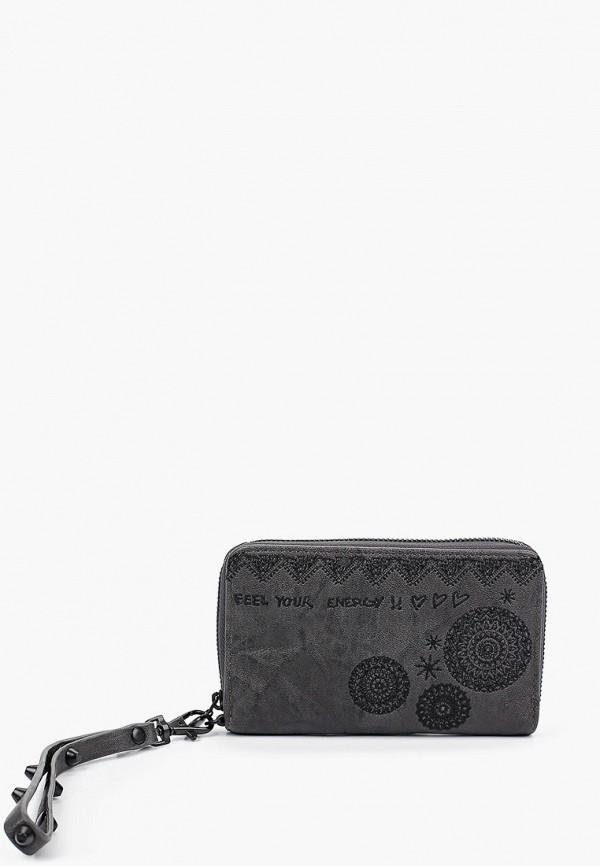 женский кошелёк desigual, серый
