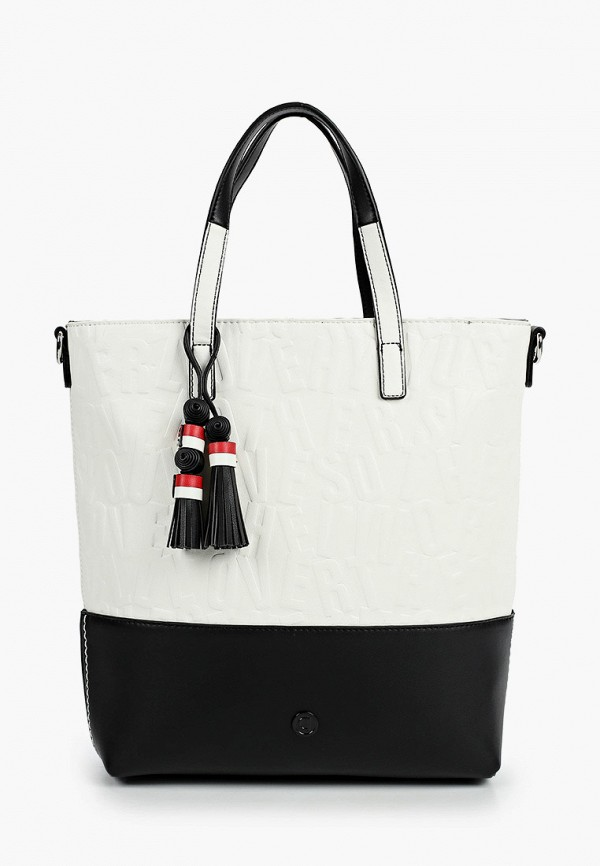 женская сумка с ручками desigual, белая