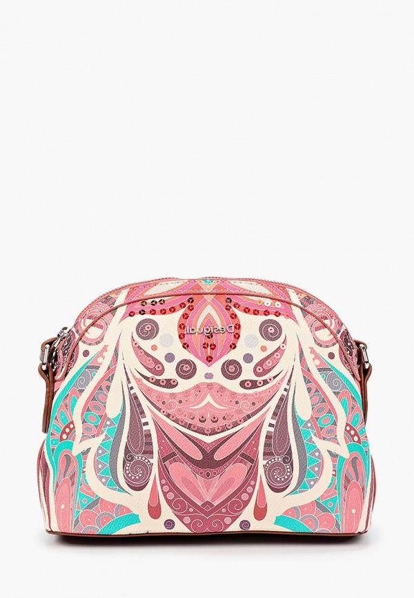 женская сумка через плечо desigual, разноцветная