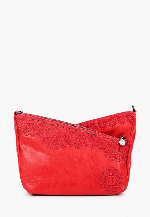 женская сумка через плечо desigual, красная
