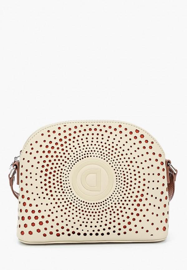 женская сумка через плечо desigual, розовая