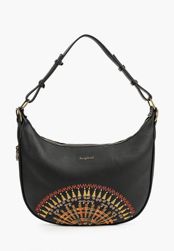 женская сумка через плечо desigual, черная