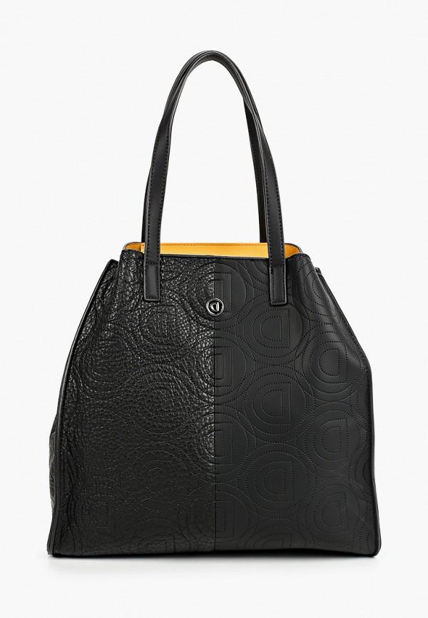 женская сумка с ручками desigual, черная