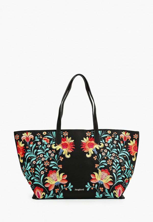 женская сумка-шоперы desigual, черная