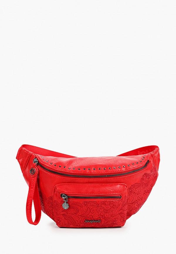 женская поясные сумка desigual, красная