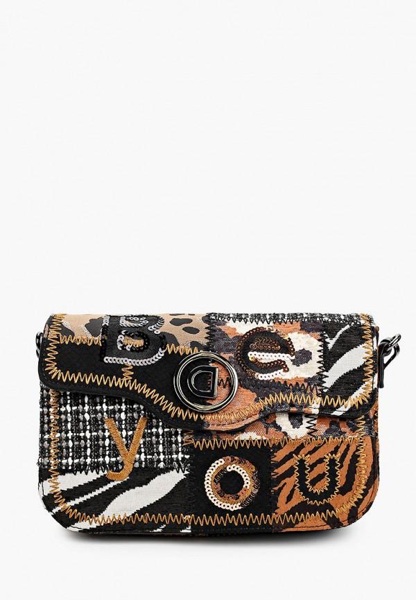 женская сумка desigual, коричневая