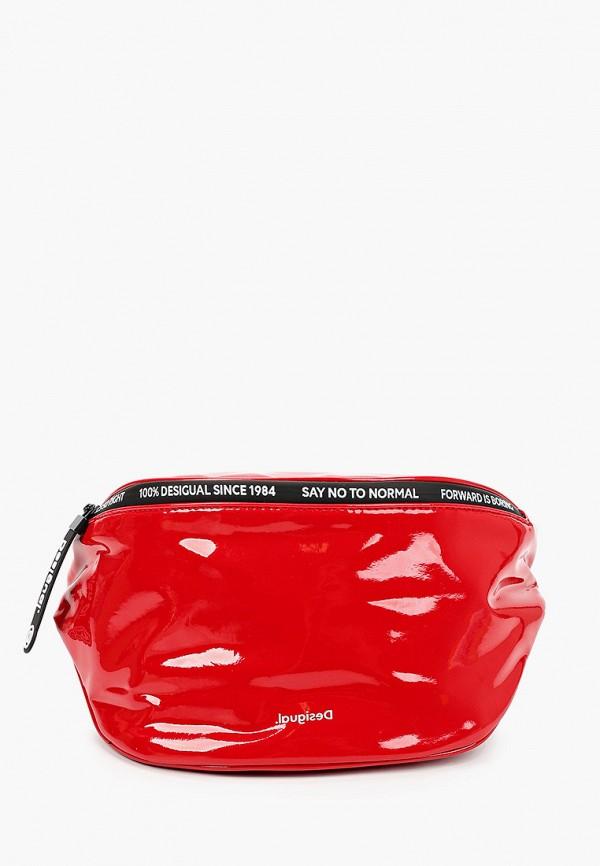 женская сумка desigual, красная