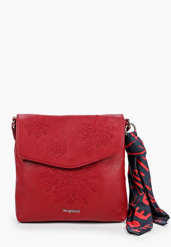 женская сумка desigual, бордовая
