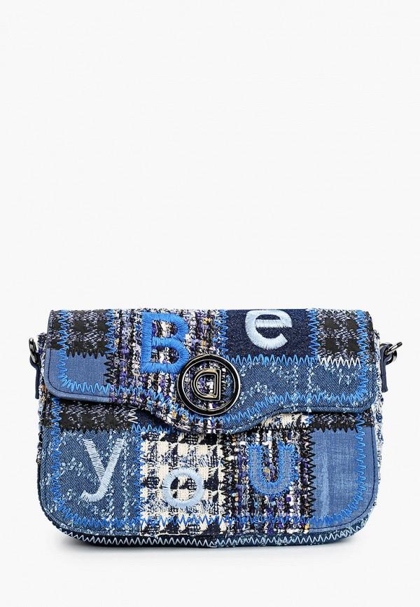 женская сумка desigual, синяя