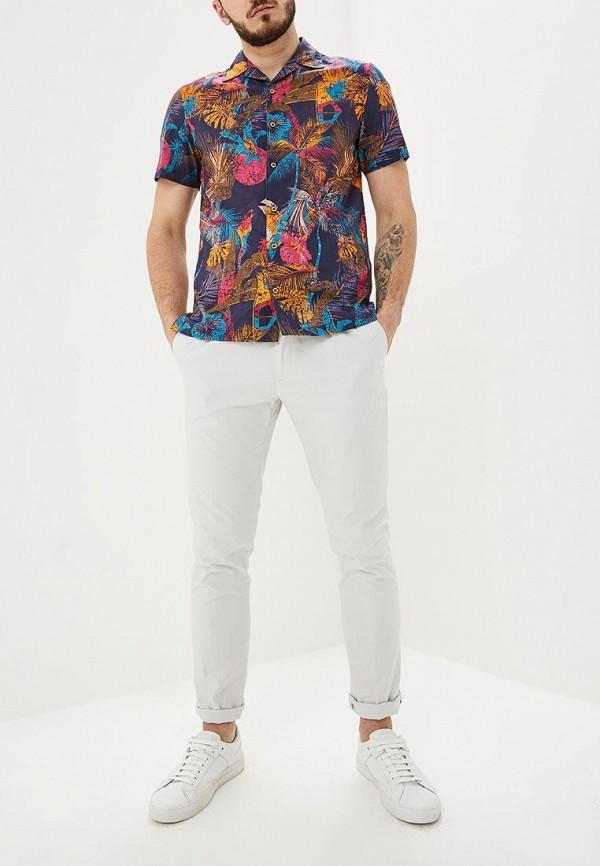 Фото 2 - мужскую рубашку Desigual разноцветного цвета