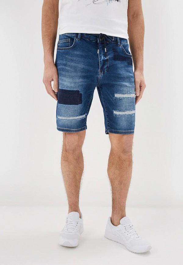 мужские джинсовые шорты desigual, синие