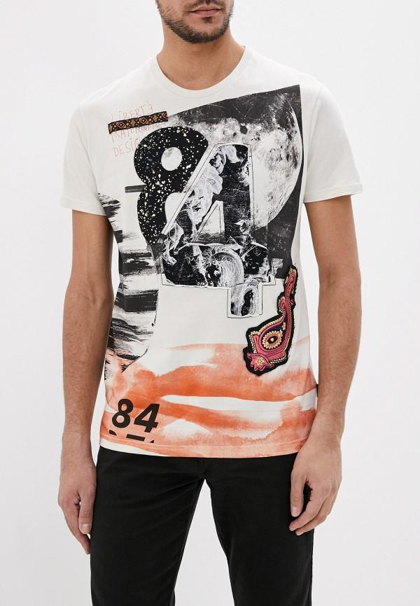 мужская футболка с коротким рукавом desigual, бежевая