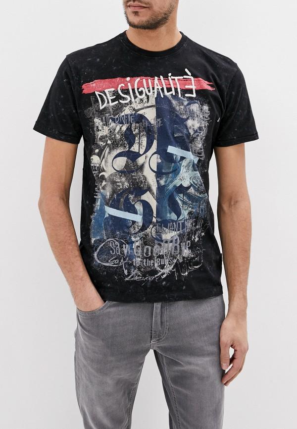 мужская футболка с коротким рукавом desigual, черная