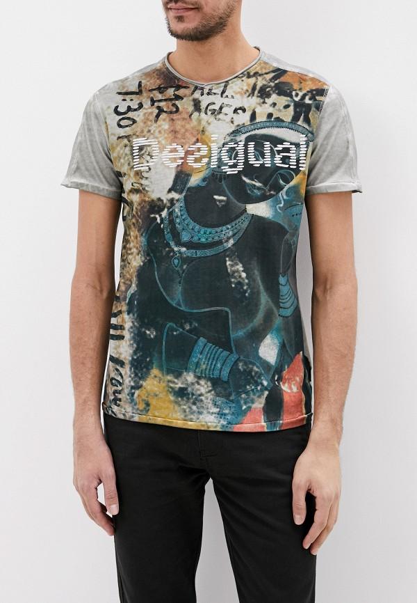 мужская футболка с коротким рукавом desigual, серая