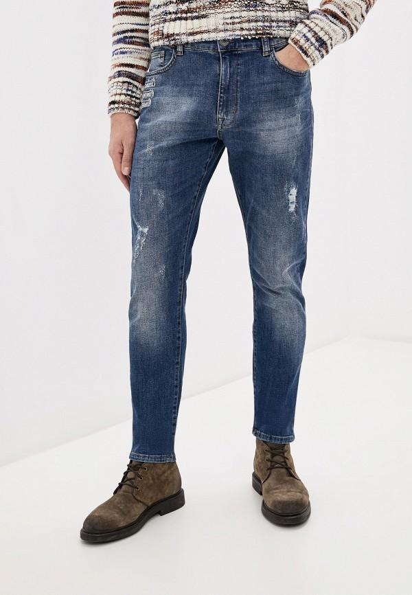 мужские зауженные джинсы desigual, синие