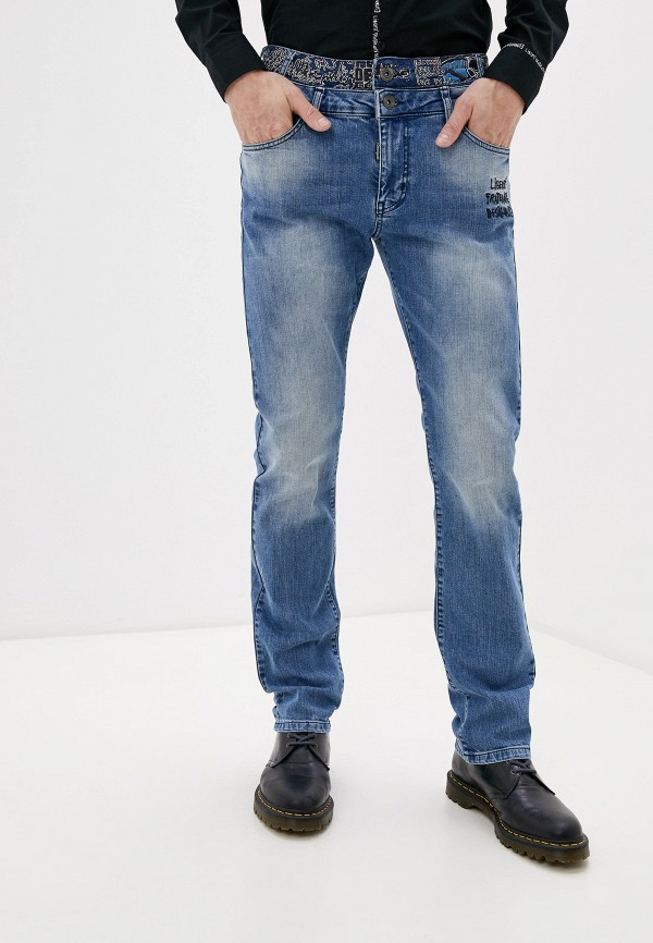 мужские прямые джинсы desigual, голубые