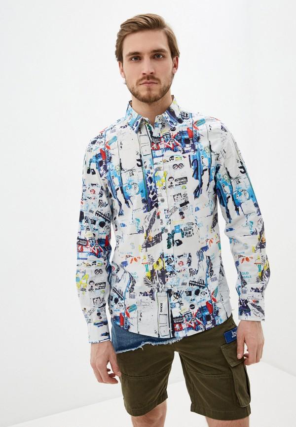 мужская рубашка с длинным рукавом desigual, разноцветная