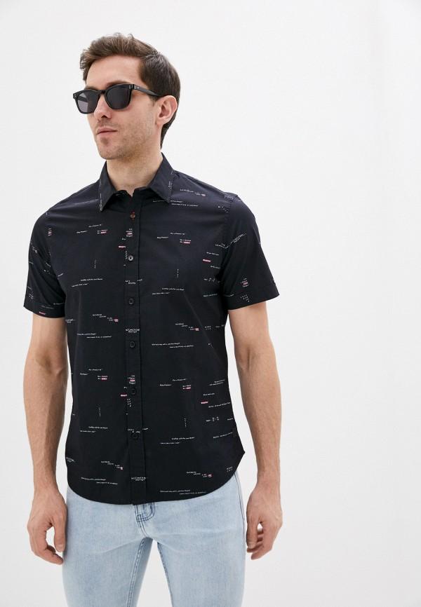 мужская рубашка с коротким рукавом desigual, синяя