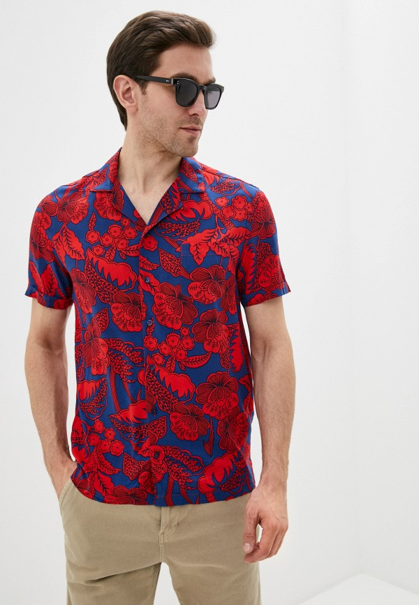 мужская рубашка с коротким рукавом desigual, разноцветная